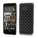 Drahokamové puzdro pre HTC one M7- čierné - 1/7