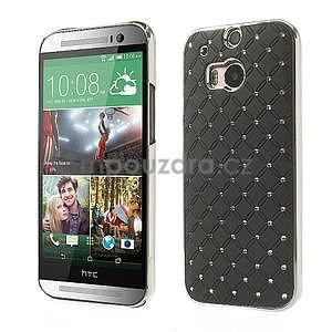 Drahokamové puzdro pre HTC one M8- čierné - 1
