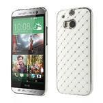Drahokamové puzdro pre HTC one M8- biele - 1/6