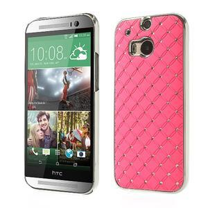 Drahokamové puzdro pre HTC one M8- svetloružové - 1