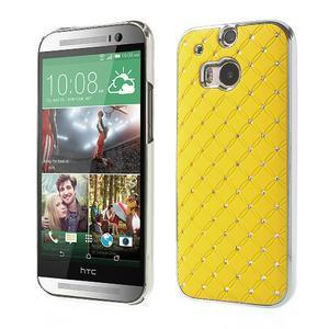 Drahokamové puzdro pre HTC one M8- žlté - 1