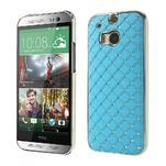 Drahokamové puzdro pre HTC one M8- svetlo modré - 1/6