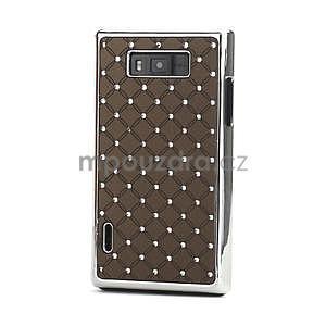 Drahokamové puzdro pre LG Optimus L7 P700- coffee - 1