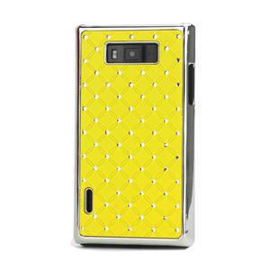 Drahokamové puzdro pre LG Optimus L7 P700- žlté - 1