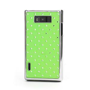 Drahokamové puzdro pre LG Optimus L7 P700- zelené - 1