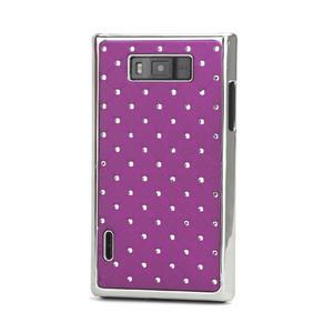 Drahokamové puzdro pre LG Optimus L7 P700- fialové - 1