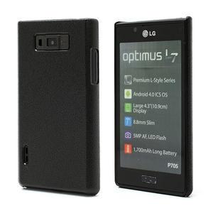 Texturované puzdro pre LG Optimus L7 P700- čierné - 1