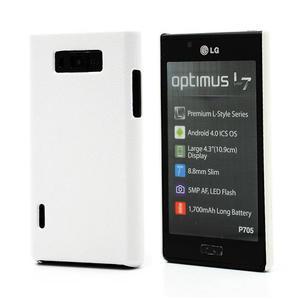 Texturované puzdro pre LG Optimus L7 P700- biele - 1