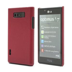 Texturované puzdro pre LG Optimus L7 P700- červené - 1