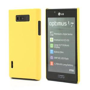 Texturované puzdro pre LG Optimus L7 P700- žlté - 1