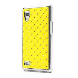 Drahokamové puzdro pre LG Optimus L9 P760- žlté - 1