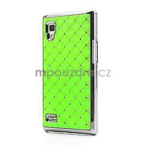 Drahokamové puzdro pre LG Optimus L9 P760- zelené - 1