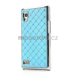 Drahokamové puzdro pre LG Optimus L9 P760- svetlo modré - 1