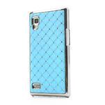 Drahokamové puzdro pre LG Optimus L9 P760- svetlo modré - 1/7