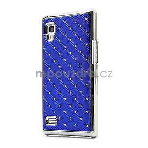 Drahokamové puzdro pre LG Optimus L9 P760- modré - 1