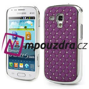 Drahokamové puzdro pre Samsung Trend plus, S duos- fialové - 1