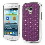 Drahokamové puzdro pre Samsung Trend plus, S duos- fialové - 1/4