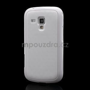 Plastogélové puzdro pre Samsung Galaxy Trend, Duos- biele - 1