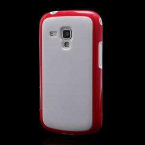 Plastogélové puzdro na Samsung Galaxy Trend, Duos- červené - 1