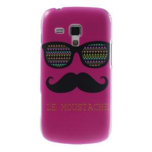 Plastové puzdro na Samsung Trend plus, S duos - růžové kníraté - 1