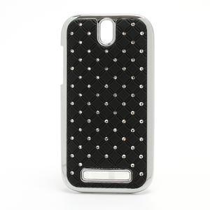 Drahokamové puzdro pre HTC One SV- čierné - 1