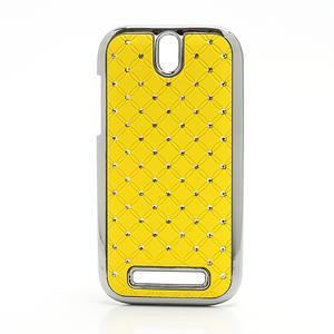 Drahokamové puzdro pre HTC One SV- žlté - 1