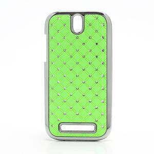 Drahokamové puzdro pre HTC One SV- zelené - 1