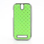 Drahokamové puzdro pre HTC One SV- zelené - 1/5