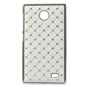 Drahokamové puzdro na Nokia X dual- biele - 1