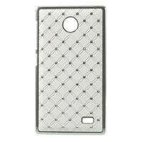 Drahokamové puzdro na Nokia X dual- biele - 1/5