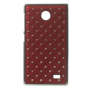 Drahokamové puzdro na Nokia X dual- červené - 1