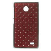 Drahokamové puzdro na Nokia X dual- červené - 1/5