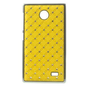 Drahokamové puzdro na Nokia X dual- žlté - 1