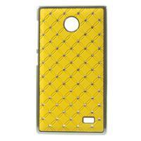 Drahokamové puzdro na Nokia X dual- žlté - 1/5