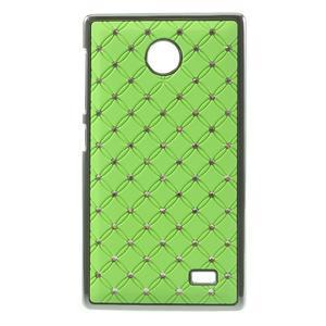 Drahokamové puzdro na Nokia X dual- zelené - 1