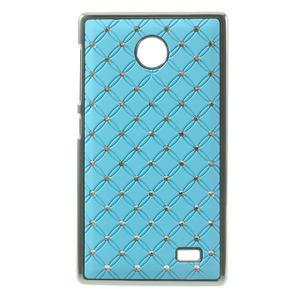 Drahokamové puzdro na Nokia X dual- svetlo modré - 1
