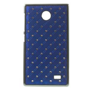 Drahokamové puzdro na Nokia X dual- modré - 1
