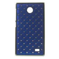 Drahokamové puzdro na Nokia X dual- modré - 1/5