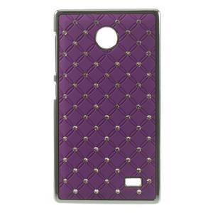Drahokamové puzdro na Nokia X dual- fialové - 1