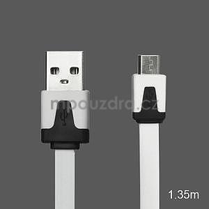 Nabíjecí, prepojovací micro USB kabel, biely / čierný - 1