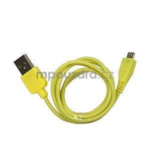 micro USB kabel - délka 1 m, žltý