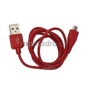 micro USB kabel - délka 1 m, červený