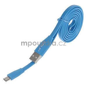 Propojovací micro USB kabel - délka 1 m, modrý - 1