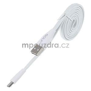 Propojovací micro USB kabel - délka 1 m, biely - 1