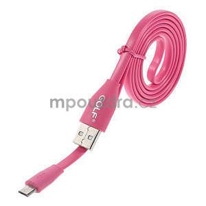 Propojovací micro USB kabel - délka 1 m, rose - 1