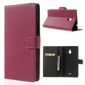 Peňaženkové puzdro pre Nokia Lumia 1320- ružové - 1