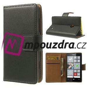 Peňaženkové puzdro na Nokia Lumia 520 - čierné - 1