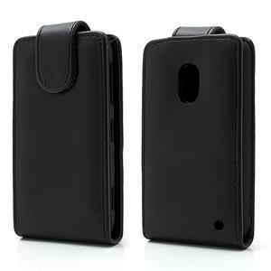 Flipové puzdro na Nokia Lumia 620- čierné - 1