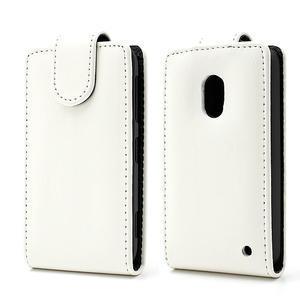 Flipové puzdro na Nokia Lumia 620- biele - 1