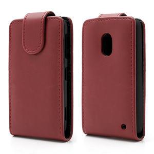 Flipové puzdro na Nokia Lumia 620- červené - 1